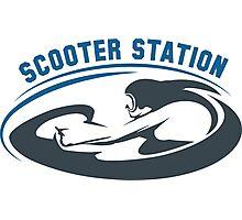 Scooter Diving Club emblem Photographic Print