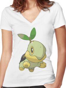 Pokemon Greengrass Women's Fitted V-Neck T-Shirt
