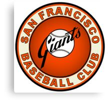 SAN FRANCISCO GIANTS BASEBALL Canvas Print