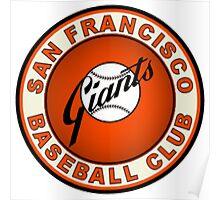 SAN FRANCISCO GIANTS BASEBALL Poster
