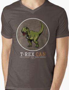 T-rex CAN... Mens V-Neck T-Shirt