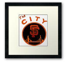 THE CITY SAN FRANCISCO Framed Print