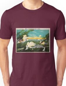 Instant Sinking Of The Ships In The Great Sea Battle AT Lushun Bay - anon - 1904 - Chromolithograph Unisex T-Shirt