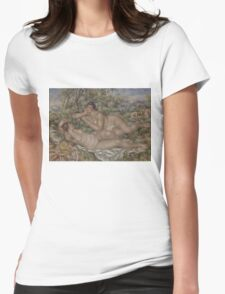 Auguste Renoir - The Bathers 1918 - 1919 Womens Fitted T-Shirt