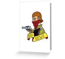Bad News Tattoo Flash Greeting Card