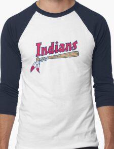 CLEVELAND INDIANS LOGO Men's Baseball ¾ T-Shirt