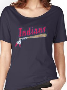 CLEVELAND INDIANS LOGO Women's Relaxed Fit T-Shirt