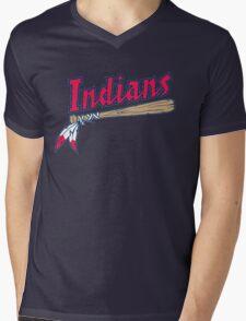 CLEVELAND INDIANS LOGO Mens V-Neck T-Shirt