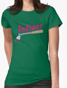 CLEVELAND INDIANS LOGO Womens Fitted T-Shirt