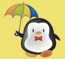 umbrella penguin One Piece - Short Sleeve