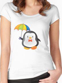 umbrella penguin Women's Fitted Scoop T-Shirt