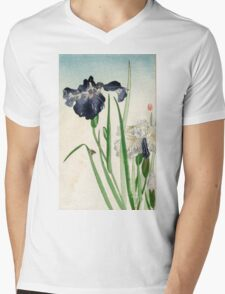 Irises - anon - 1900 - woodcut Mens V-Neck T-Shirt
