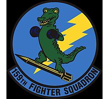 159th Fighter Squadron Emblem Photographic Print
