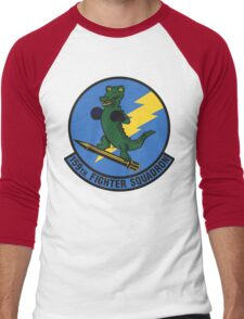 159th Fighter Squadron Emblem Men's Baseball ¾ T-Shirt