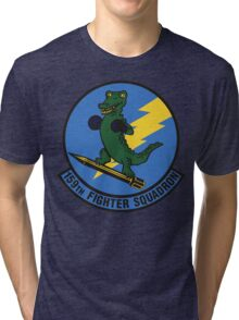 159th Fighter Squadron Emblem Tri-blend T-Shirt