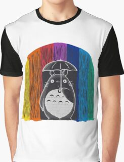 totoro rainbow rain Graphic T-Shirt