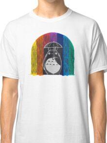 totoro rainbow rain Classic T-Shirt