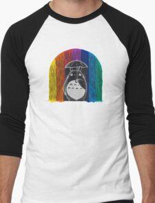 totoro rainbow rain Men's Baseball ¾ T-Shirt