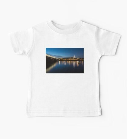 British Symbols and Landmarks - Silky Reflections Saint Paul's Cathedral and Blackfriars Bridge Baby Tee