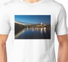 British Symbols and Landmarks - Silky Reflections Saint Paul's Cathedral and Blackfriars Bridge Unisex T-Shirt