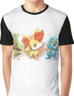 Chespin Froakie Fennekin Graphic T-Shirt