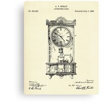 Advertising Clock-1888 Canvas Print