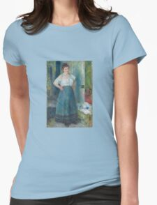 Auguste Renoir - The Laundress 1877-79 Womens Fitted T-Shirt