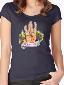 Homies West Coast Hand Sign tattoo flash Women's Fitted Scoop T-Shirt