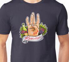 Homies West Coast Hand Sign tattoo flash Unisex T-Shirt
