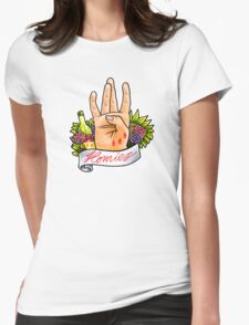 Homies West Coast Hand Sign tattoo flash Womens Fitted T-Shirt