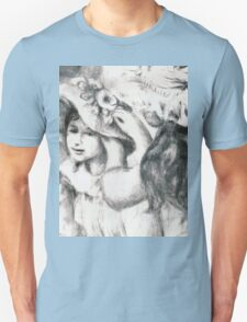 Auguste Renoir - The Pinned Hat 1898 Woman Portrait Unisex T-Shirt