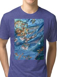 Turquoise 1 Tri-blend T-Shirt