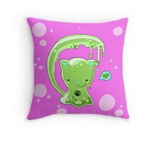 Monster Slime-Kitty Throw Pillow