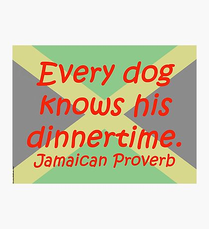 Every Dog - Jamaican Proverb Photographic Print