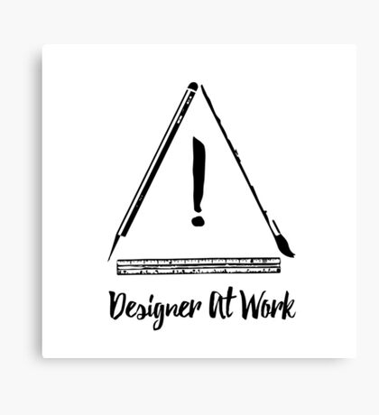 Designer At Work Canvas Print