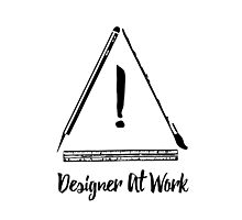 Designer At Work Photographic Print
