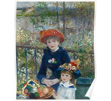 Auguste Renoir - Two Sisters On the Terrace 1881 Poster