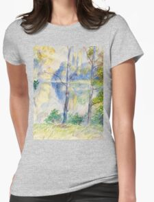 Auguste Renoir - View of a Park . 1885 Impressionism  Landscape Womens Fitted T-Shirt