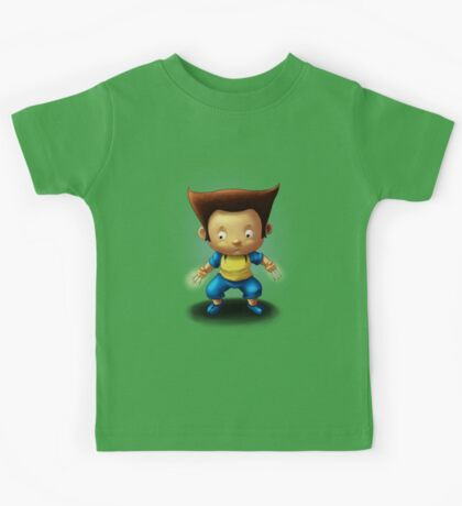Mini Wolverine Fan Art Kids Tee