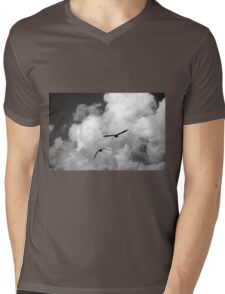 seagull fly in the sky Mens V-Neck T-Shirt