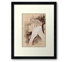 Stag crown Framed Print