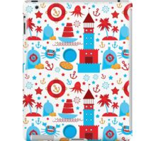 Sea and pirate icons iPad Case/Skin