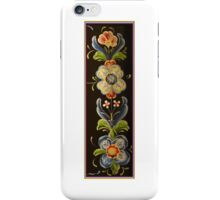 Long Tall Nordic Flower Power Folk Art Designs by Kirsten iPhone Case/Skin