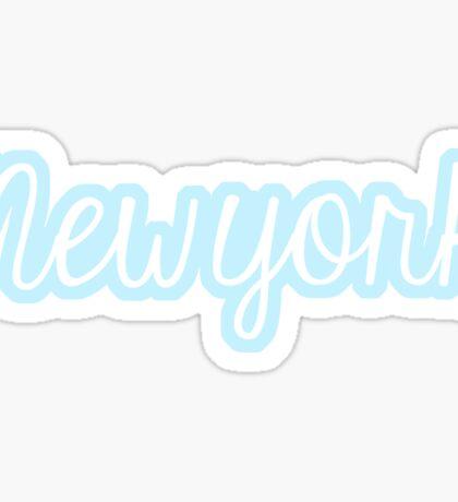 Blue New York Sticker