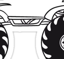 small cool monster truck turbo Sticker