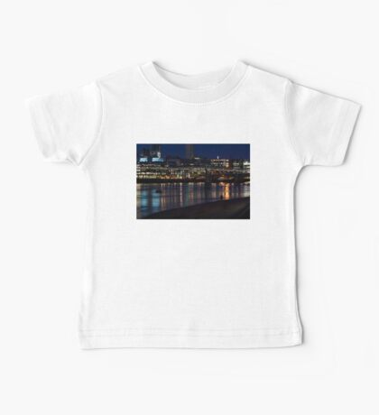 Strolling Down the Thames Riverbank Hand in Hand - Magical Night in London Baby Tee