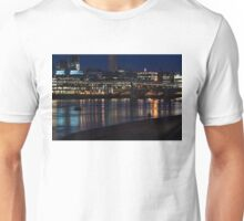 Strolling Down the Thames Riverbank Hand in Hand - Magical Night in London Unisex T-Shirt