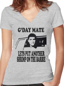 Dumb And Dumber - G'day Mate Women's Fitted V-Neck T-Shirt