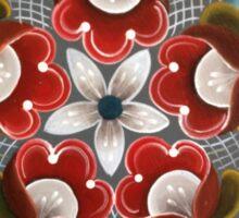 Cranberry Folk Art Kaleidoscope Blizzard by Kirsten Sticker