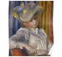 Auguste Renoir - Woman with a Hat 1891 Woman Portrait Poster